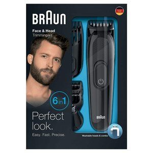 NEW BrAun 6 in 1 Perfect Look Face Head Trimmers
